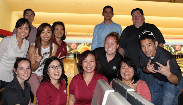 The Wikoff Combs Team Blew Off Some Steam With A Night At Aiea Bowl.